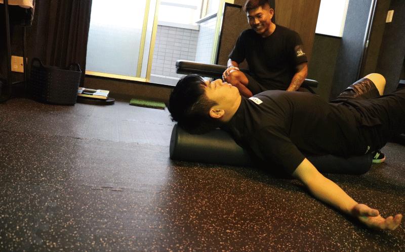 まーかず師匠 柔軟トレーニング